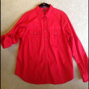 Ralph Lauren cotton boyfriend shirt